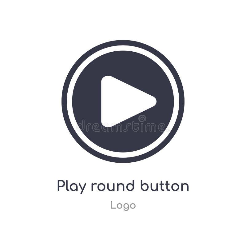 Ic?ne ronde de bouton de jeu illustration d'isolement de vecteur d'icône de bouton de rond de jeu de collection de logo editable  illustration de vecteur