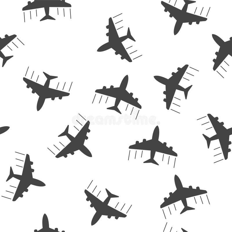 Icône sans couture de fond de modèle d'avion Illustrat plat de vecteur illustration de vecteur