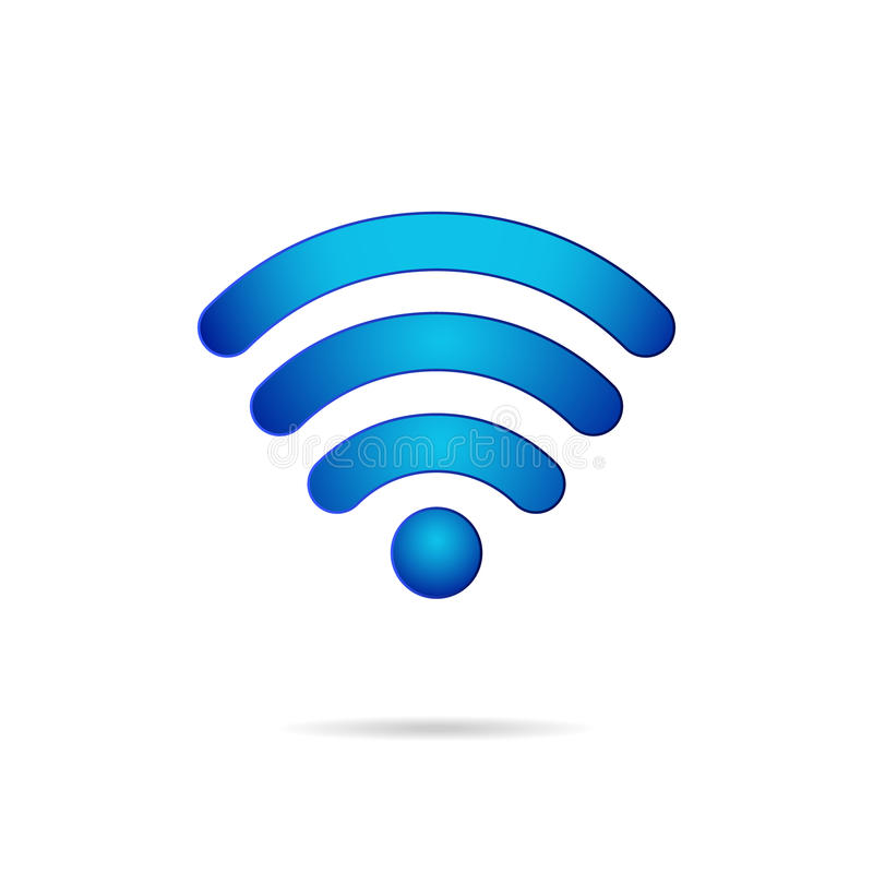 Icône sans fil de connexion de symbole de Wifi 3d
