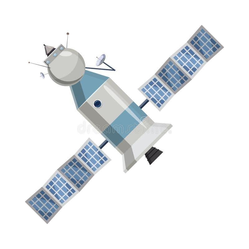 Icône satellite de l'espace dans le style de bande dessinée illustration libre de droits