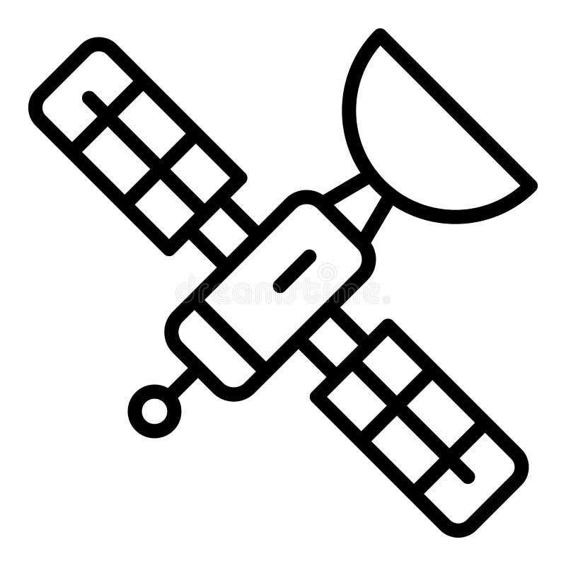 Ic?ne satellite de l'espace, style d'ensemble illustration libre de droits