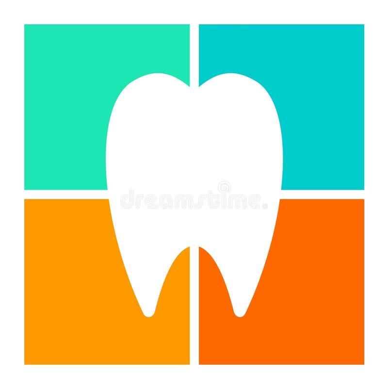 Icône silhouettée de dent illustration libre de droits