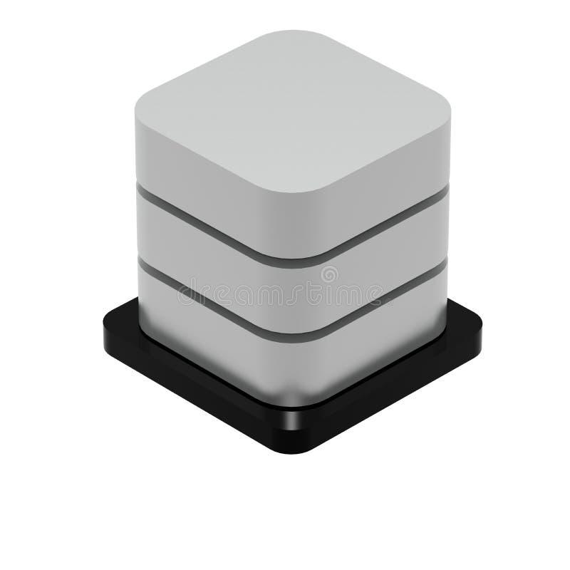 Icône simple de base de données d'isolement sur le blanc illustration libre de droits