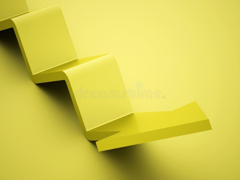 Icône simple de flèches d'affaires rendue photo libre de droits