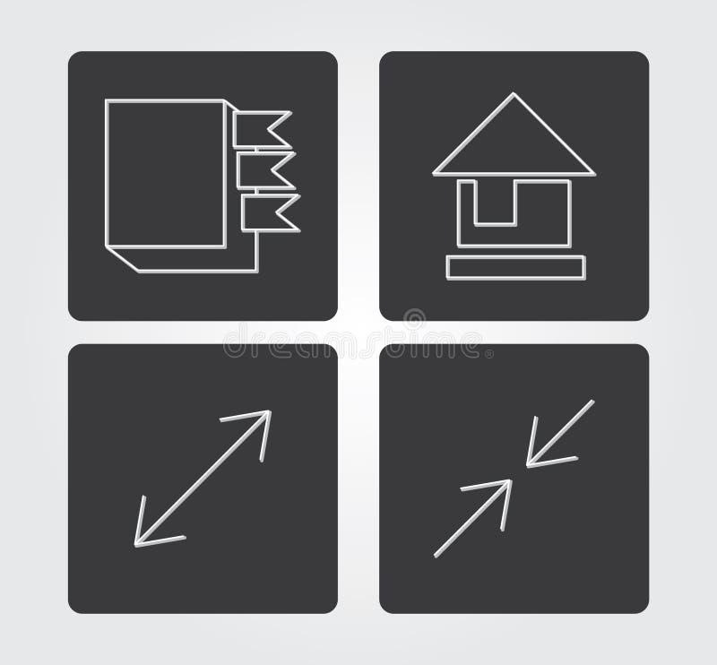Icône simple de Web dans : ligne style mince images stock