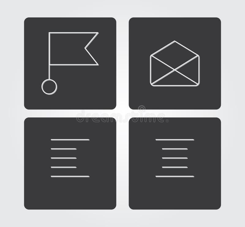 Icône simple de Web dans : ligne style mince photos stock