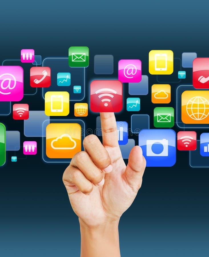 Icône sociale d'application images stock