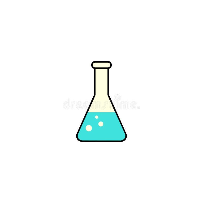 Icône solide chimique, signe en verre de laboratoire illustration libre de droits