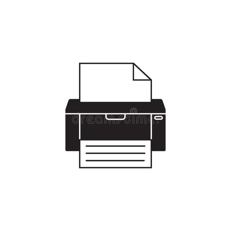 Icône solide de fax, imprimante, appareil électronique, illustration libre de droits