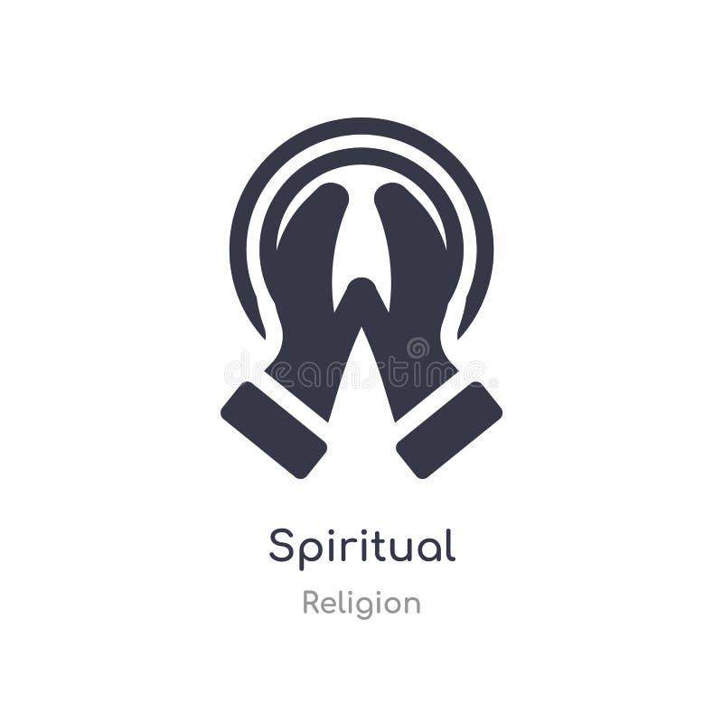 Ic?ne spirituelle illustration spirituelle d'isolement de vecteur d'icône de collection de religion editable chantez le symbole p illustration stock