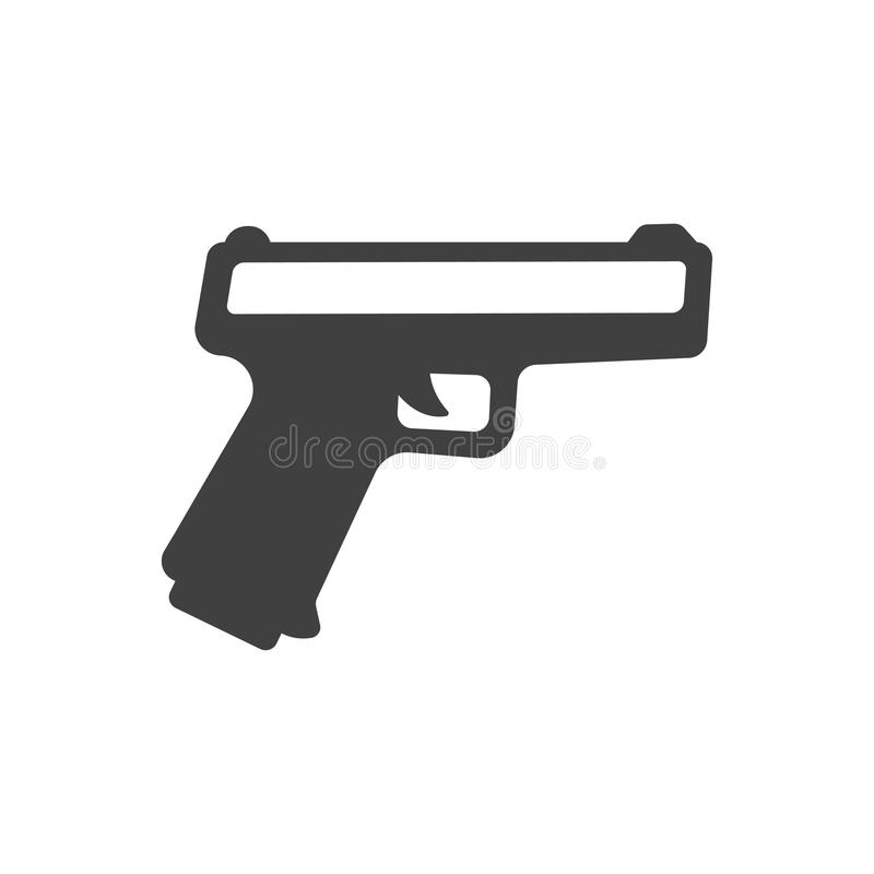Icône sticker-01 d'arme à feu illustration de vecteur