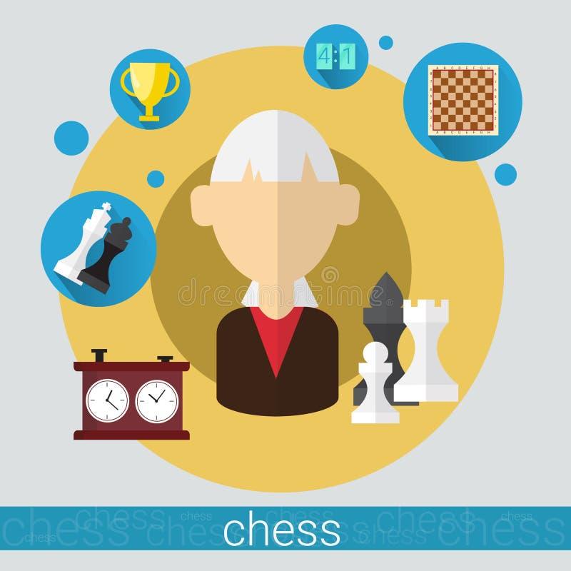 Download Icône Supérieure De Femme De Joueur De Jeu D'échecs Illustration de Vecteur - Illustration du intelligence, concurrence: 77156917
