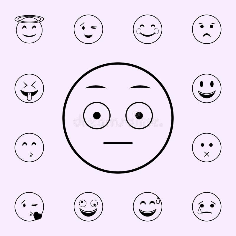 Ic?ne ?tonn?e Ensemble universel d'ic?nes d'Emoji pour le Web et le mobile illustration libre de droits