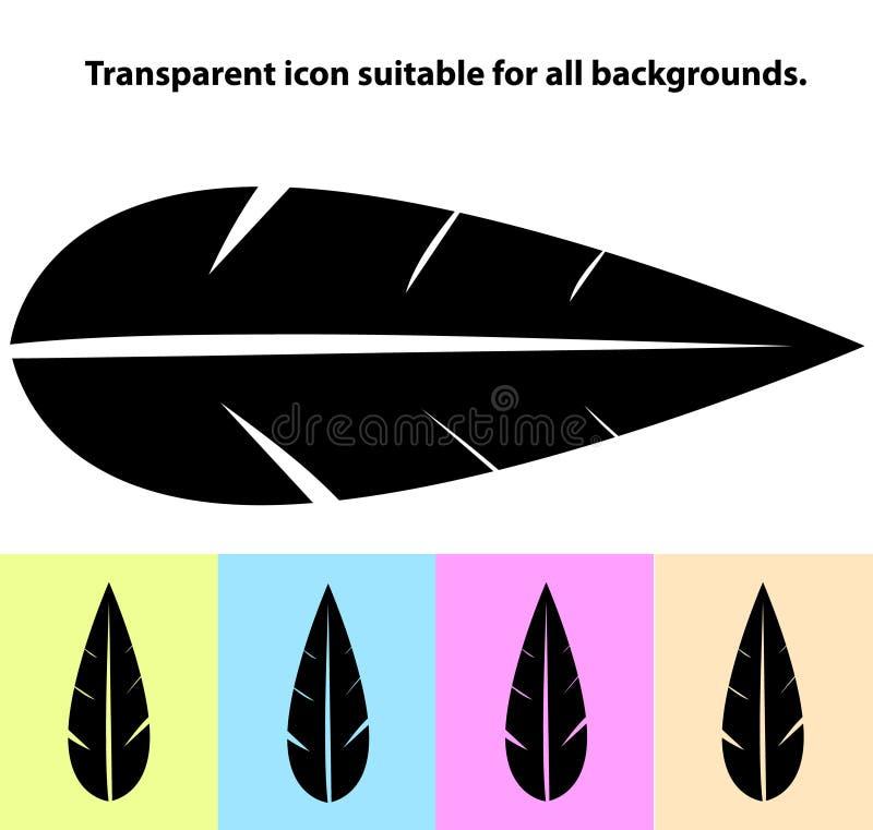 Icône transparente simple de feuille sur différents types de fonds clairs images libres de droits