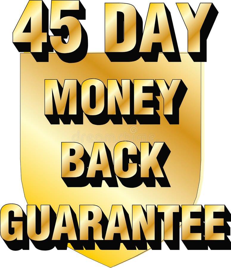 icône trente de confiance de commerce électronique de blog de site Web de bouclier de garantie de dos d'argent de 45 jours illustration de vecteur