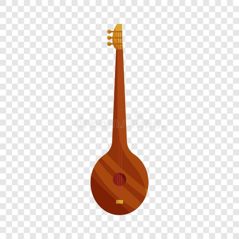 Ic?ne turque d'instrument de musique de Saz, style de bande dessin?e illustration de vecteur