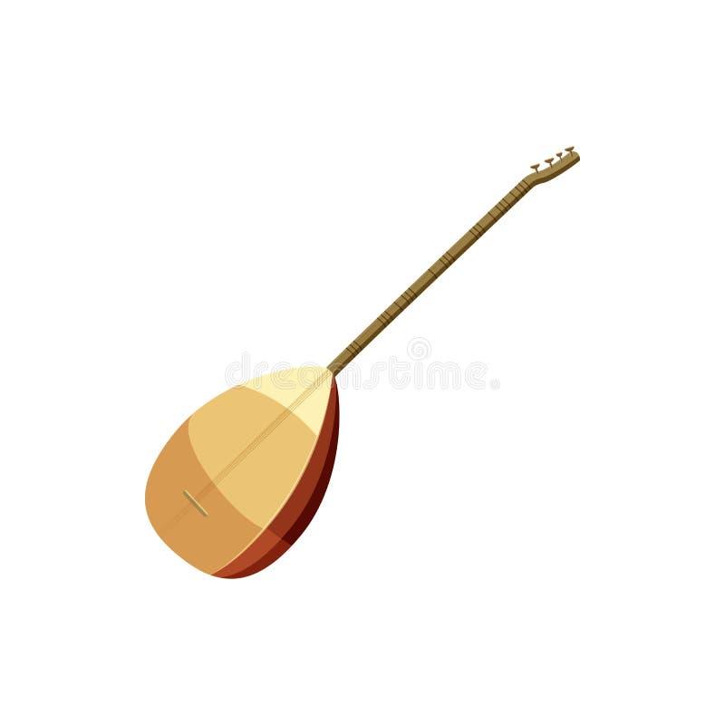 Icône turque traditionnelle d'instrument de musique de Saz illustration libre de droits