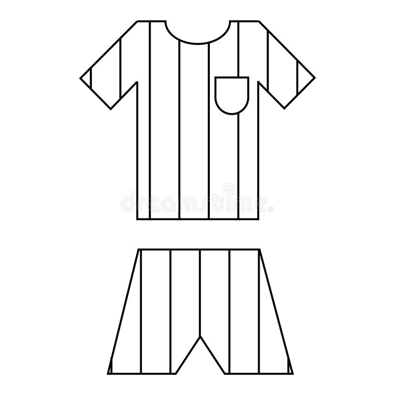 Icône uniforme d'équipe de football de l'Argentine, style d'ensemble illustration stock