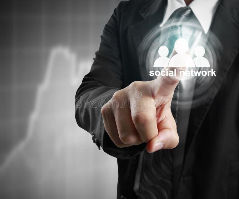 Icône virtuelle émouvante de réseau social illustration libre de droits