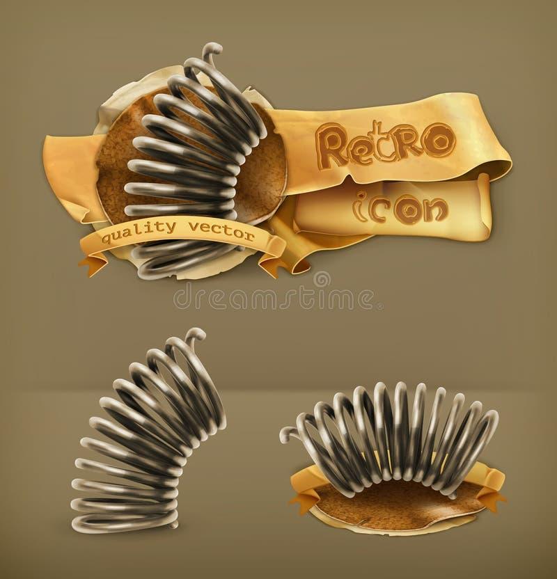 Icônes élastiques de ressort en métal illustration libre de droits