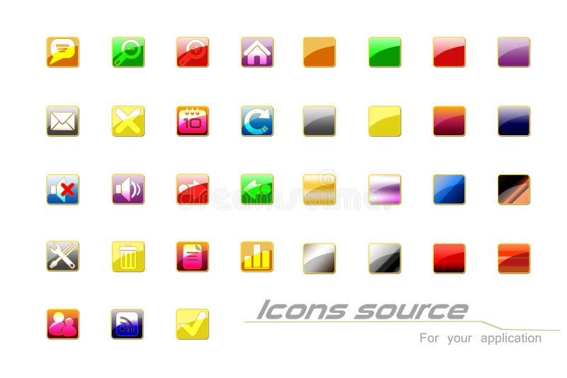 Icônes illustration libre de droits