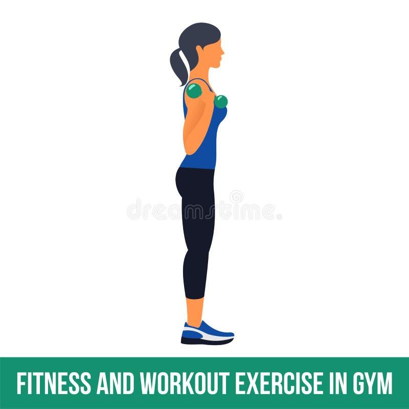 Icônes aérobies workout illustration libre de droits