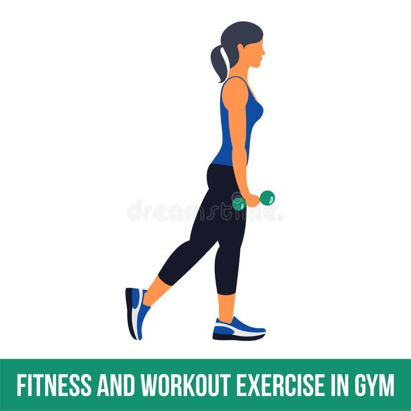 Icônes aérobies workout illustration stock