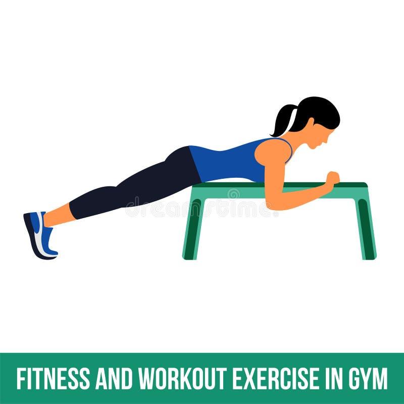 Icônes aérobies workout illustration de vecteur
