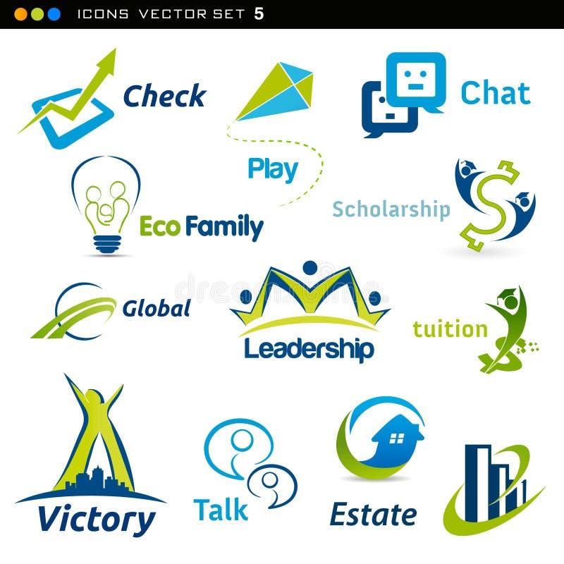 Icônes abstraites illustration de vecteur