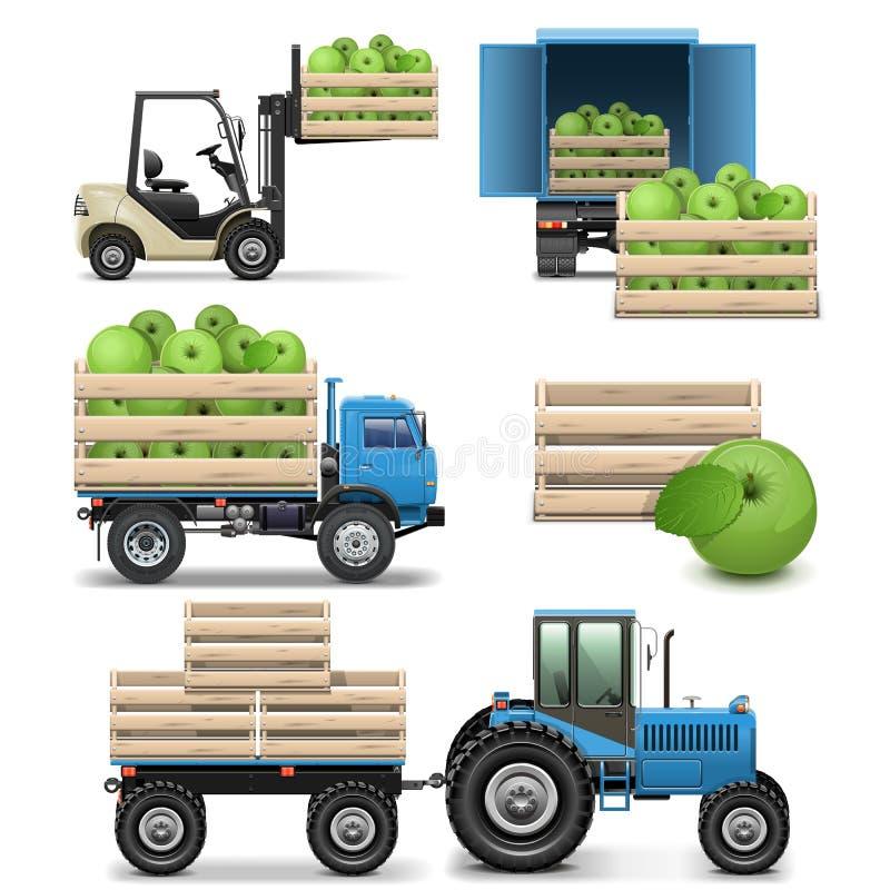 Icônes agricoles de vecteur illustration libre de droits