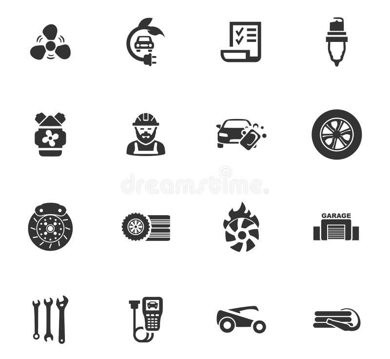 Icônes automatiques réglées illustration libre de droits