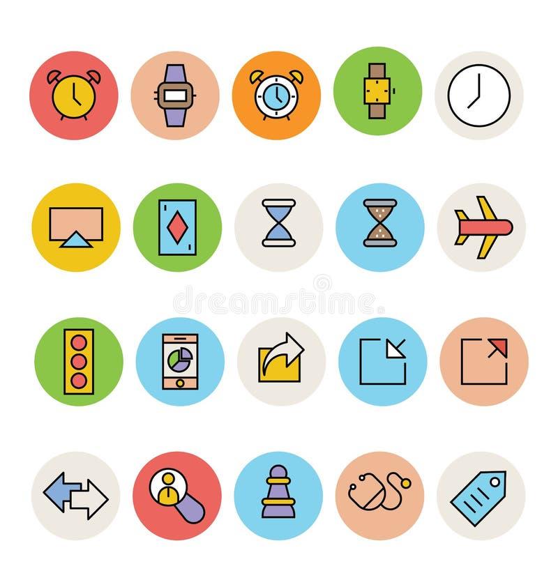 Icônes colorées de base 2 de vecteur illustration de vecteur