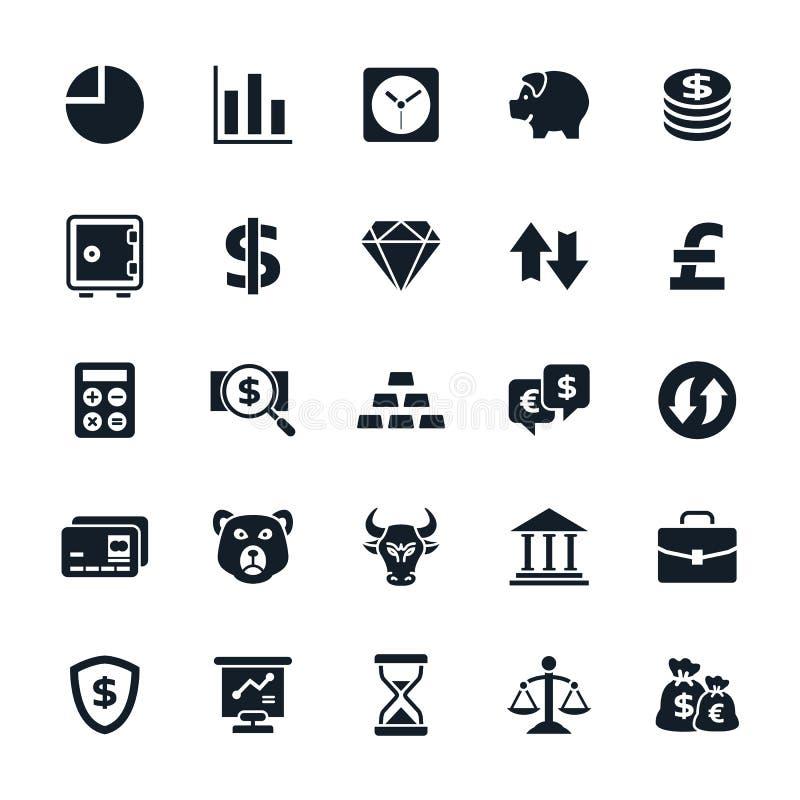 Icônes courantes et de finances illustration de vecteur