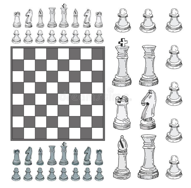 Icônes d'échecs Illustration de vecteur illustration stock