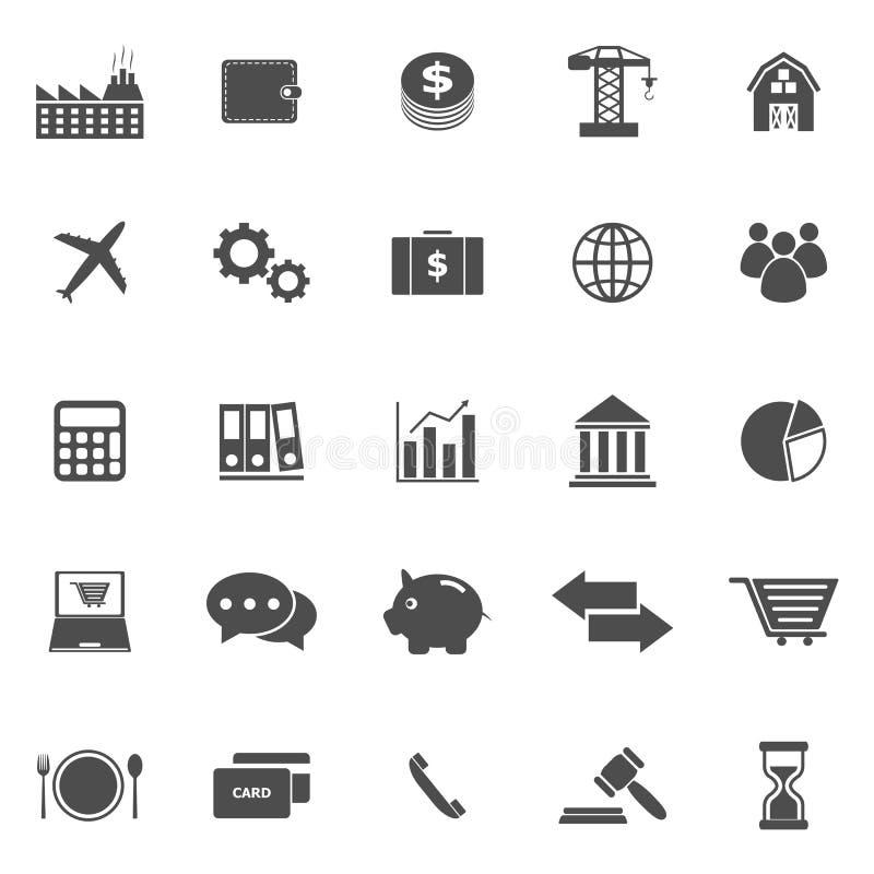 Icônes d'économie sur le fond blanc illustration stock