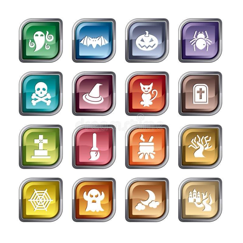 Icônes d'élément de Halloween illustration stock