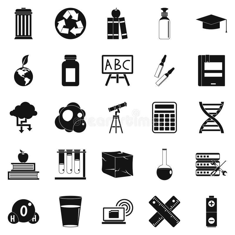 Icônes d'élément réglées, style simple illustration de vecteur