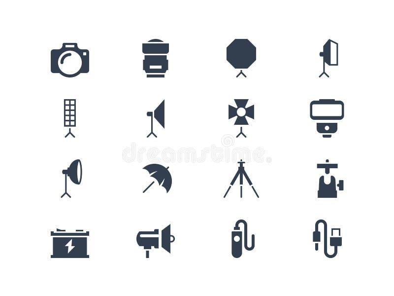 Icônes d'équipement de photo illustration libre de droits
