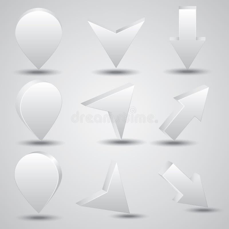 icônes 3d illustration libre de droits