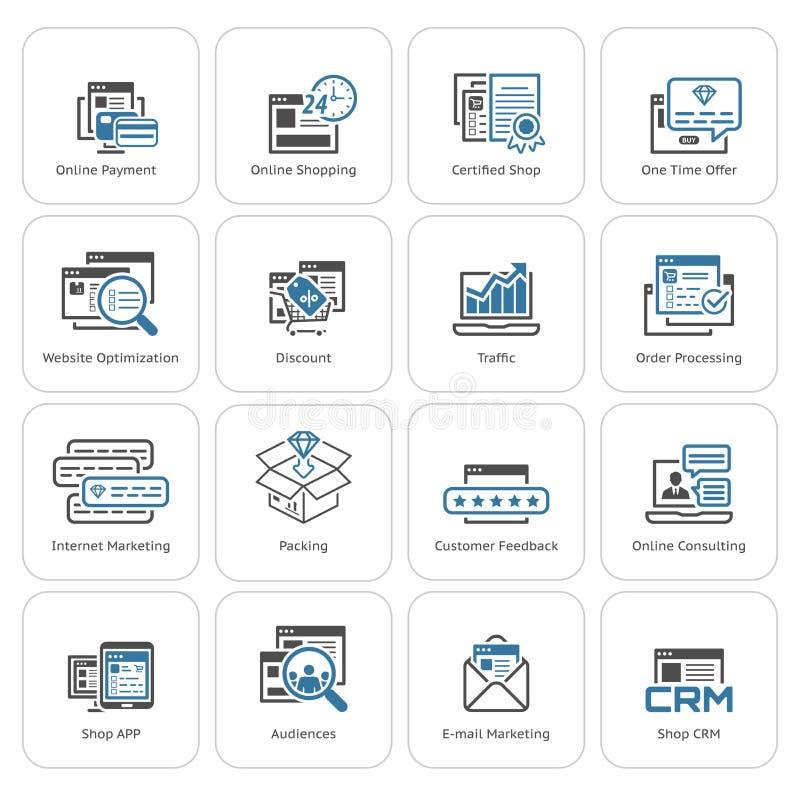 Download Icônes D'achats Et De Vente Réglées Illustration de Vecteur - Illustration du technologie, escompte: 77162938
