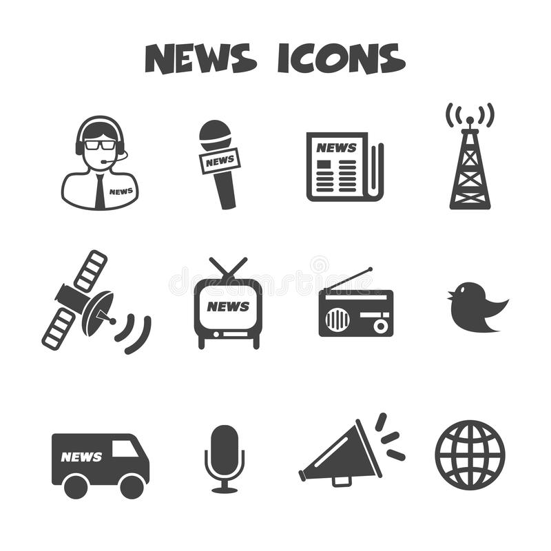 Icônes d'actualités illustration de vecteur