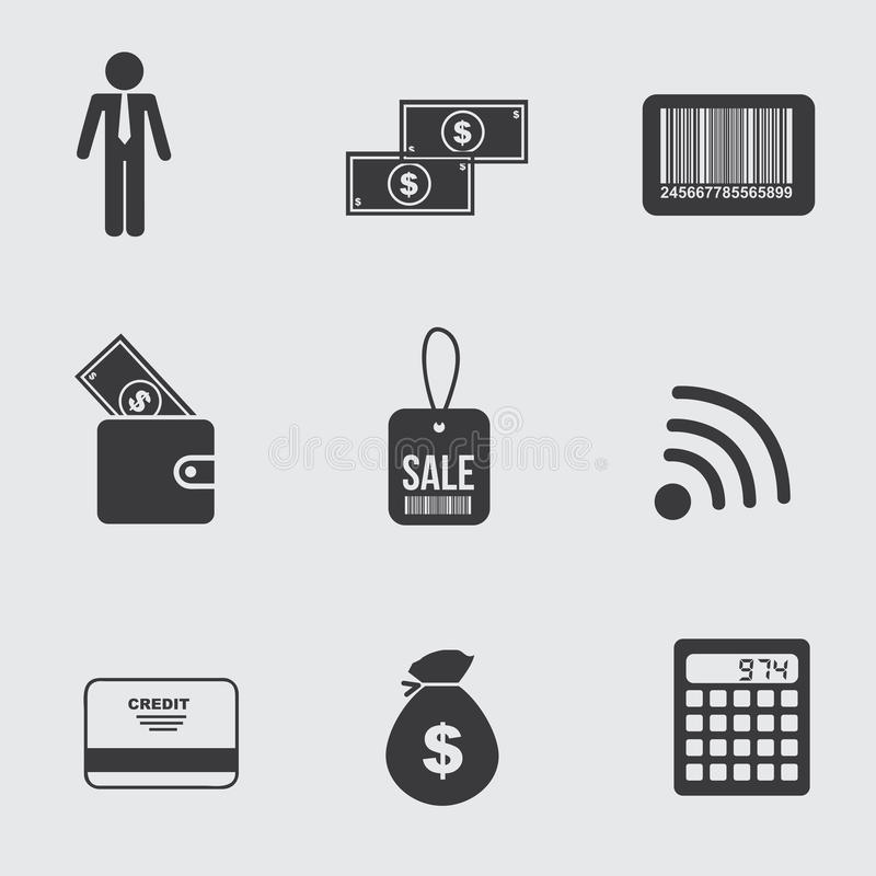 Icônes d'affaires illustration stock