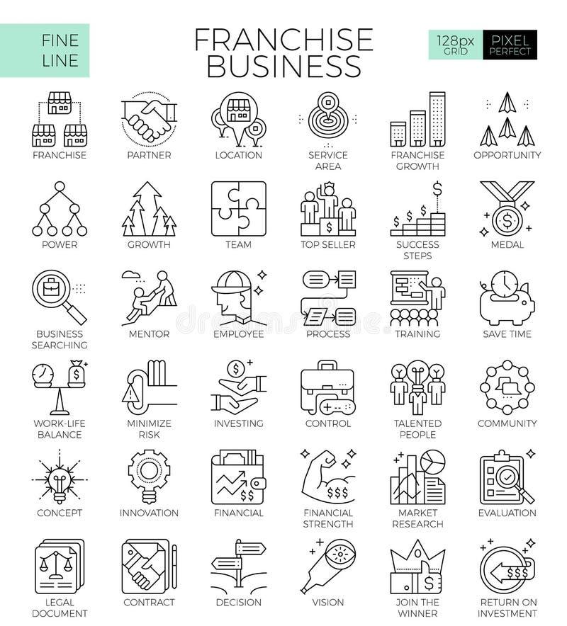 Icônes d'affaires de concession illustration libre de droits