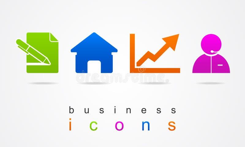 Icônes d'affaires de travail illustration stock