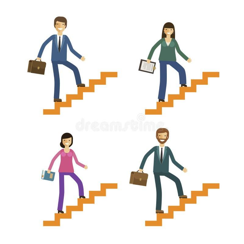 Icônes d'affaires et d'éducation réglées Concept de développement ou de motivation Illustration de vecteur illustration libre de droits