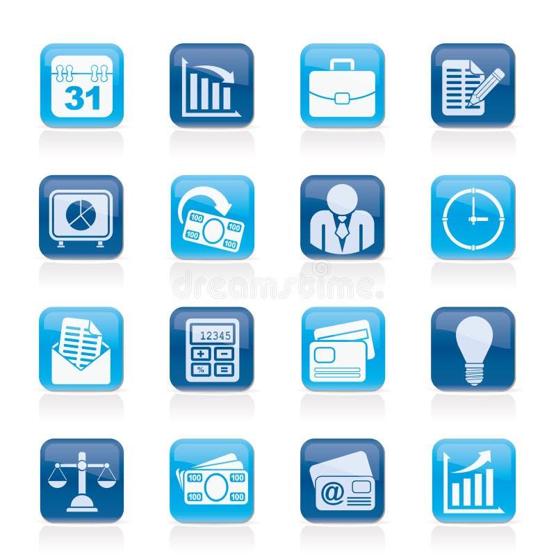 Icônes d'affaires et de bureau illustration libre de droits