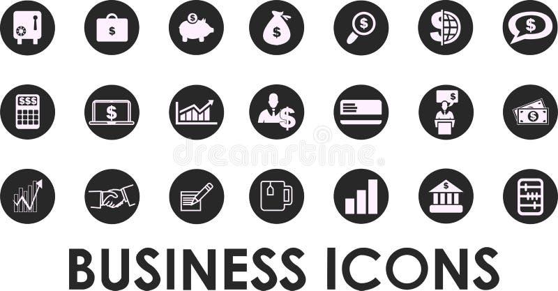 Icônes d'affaires, gestion et ressources humaines set1 Vecteur ENV 10 illustration libre de droits