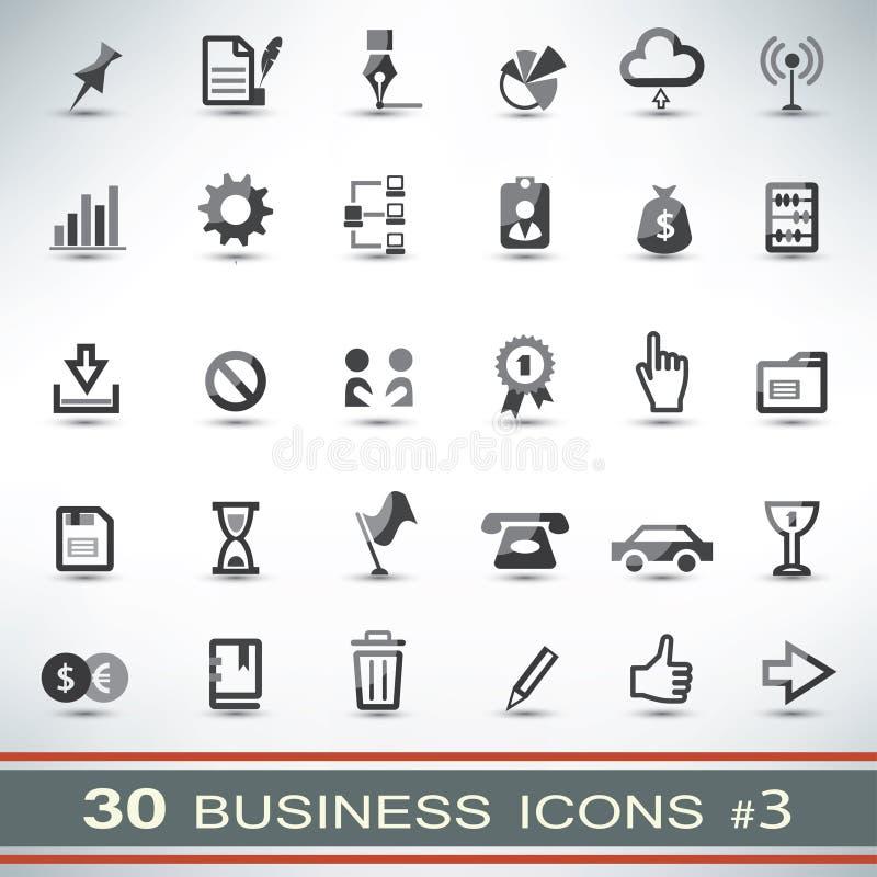 30 icônes d'affaires réglées illustration libre de droits