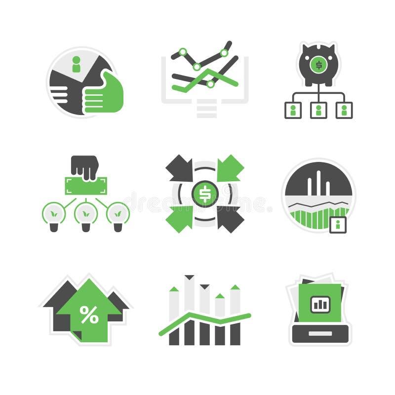 Icônes d'analyse commerciale illustration libre de droits