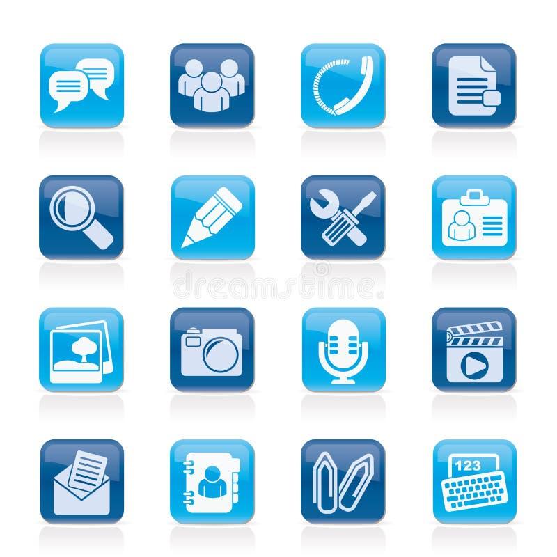 Icônes d'application et de communication de causerie illustration libre de droits